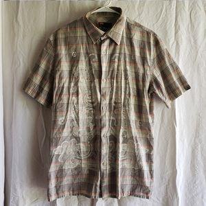 Diesel Button Front Plaid Short Sleeve Shirt